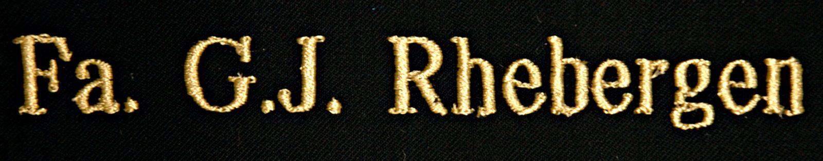 borduur letter recht