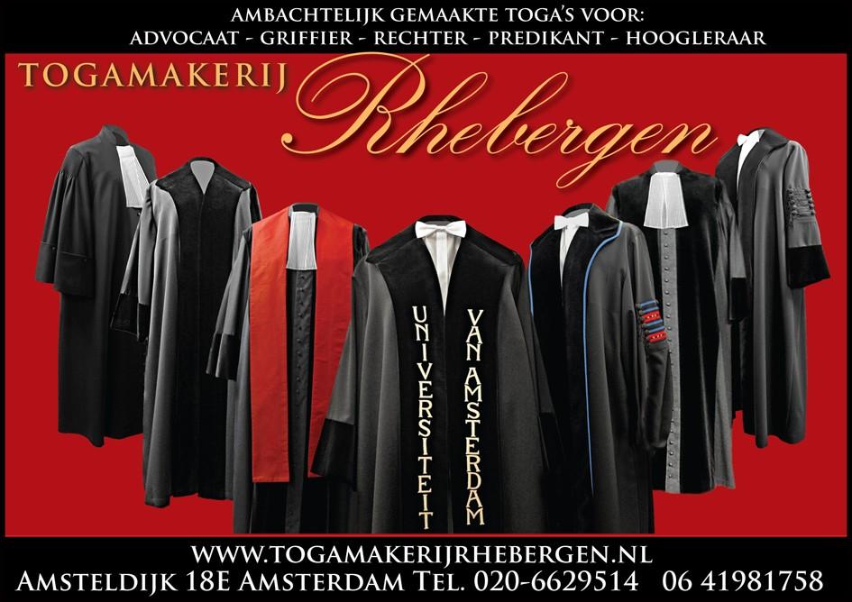 Toga Advertentie Togamakerij Rhebergen
